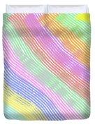 Pastel Stripes Angled Duvet Cover
