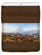 Pastel Tone Seaside Sunrise Duvet Cover