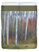 Pastel Tree Abstract Duvet Cover