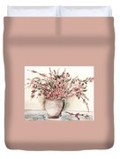 Pastels In Clay Pot Duvet Cover