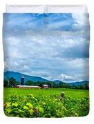 Pastoral Vermont Farmland Duvet Cover