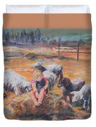 Pasture Acquaintances Duvet Cover