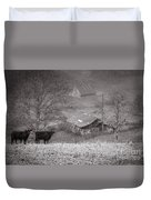 Pasture Field And Barns Duvet Cover