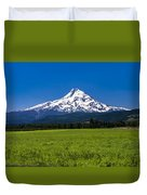 Pasture View Of Mt. Hood Duvet Cover