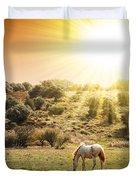 Pasturing Horse Duvet Cover