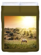Pasturing Horse Duvet Cover by Carlos Caetano