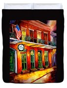 Pat O Briens Bar Duvet Cover