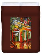 Pat O'brien's Bar On Bourbon Street Duvet Cover