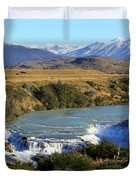 Patagonia Landscape Of Torres Del Paine National Park In Chile Duvet Cover
