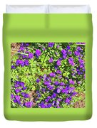 Patch Of Pansies Duvet Cover