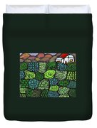 Patches Of Green Duvet Cover