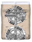 patent art Edison 1888 Phonograph Duvet Cover