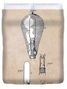 patent art Edison 1892 Incandescent electric lamp Duvet Cover