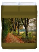 Path Along The Horses Meadow On The Farm Lovedayvale L A S Duvet Cover