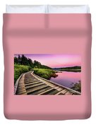 Path By The Lake Duvet Cover