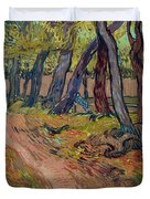 Path In The Garden Of The Asylum, By Vincent Van Gogh, 1889, Kro Duvet Cover