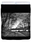 Path In The Park Duvet Cover