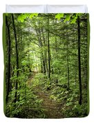 Path In The Woods Duvet Cover