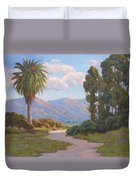 Path Into The Valley Duvet Cover