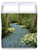 Path Of The Beautiful Spring Flowers Duvet Cover