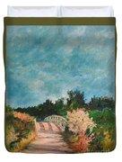 Path Over The Bridge At Robinson Preserve Duvet Cover