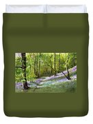 Path Through Bluebell Wood Duvet Cover