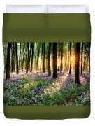 Path Through Bluebell Woods Duvet Cover