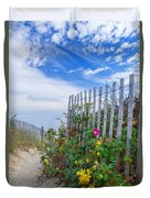 Path Through The Dunes Duvet Cover
