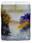 Path To ... Watercolor  Duvet Cover