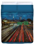 Path To And From Nyc Duvet Cover