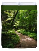 Path To Conkle's Hollow Duvet Cover