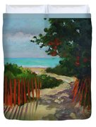 Path To Delray Beach 1 Duvet Cover