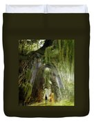 Path To Inner Peace Duvet Cover by Mary Hood