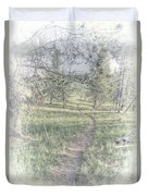Path To Life Is Narrow Duvet Cover