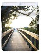 Path To Marco Island Beach Duvet Cover