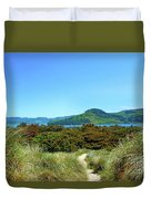 Footpath To Nestucca River Duvet Cover