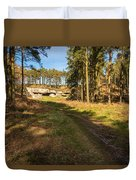Path To St Cuthbert's Cave Duvet Cover
