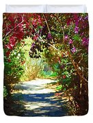 Path To The Gardens Duvet Cover
