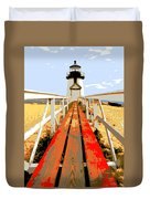 Path To The Lighthouse Duvet Cover