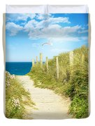 Path To The Ocean Duvet Cover
