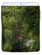 Path With Flowers Duvet Cover