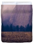 Pathway During First Snow In Yosemite Valley Duvet Cover by Priya Ghose