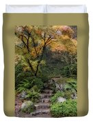 Pathway Into Fall Duvet Cover