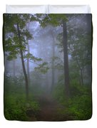 Pathway Through The Fog Duvet Cover