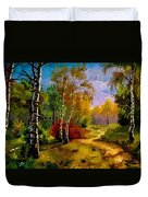 Pathway Through The Forest H B Duvet Cover