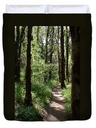 Pathway Through The Woods Duvet Cover