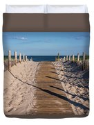 Pathway To Beach Seaside New Jersey Duvet Cover