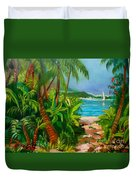 Pathway To The Beach Duvet Cover