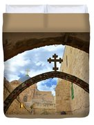 Pathway To The Cross Duvet Cover