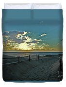 Pathway To The Sunrise Duvet Cover